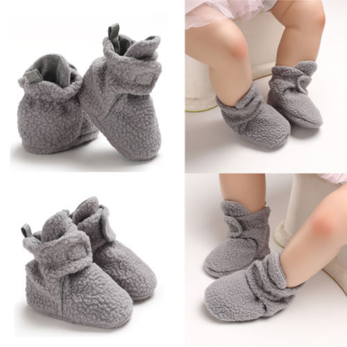 Newborn Toddler Baby Girl Boy Fleece Shoes Winter Warm Snow Boots Fashionable Soft Sole Booties Suitable For 0-18 Months 1