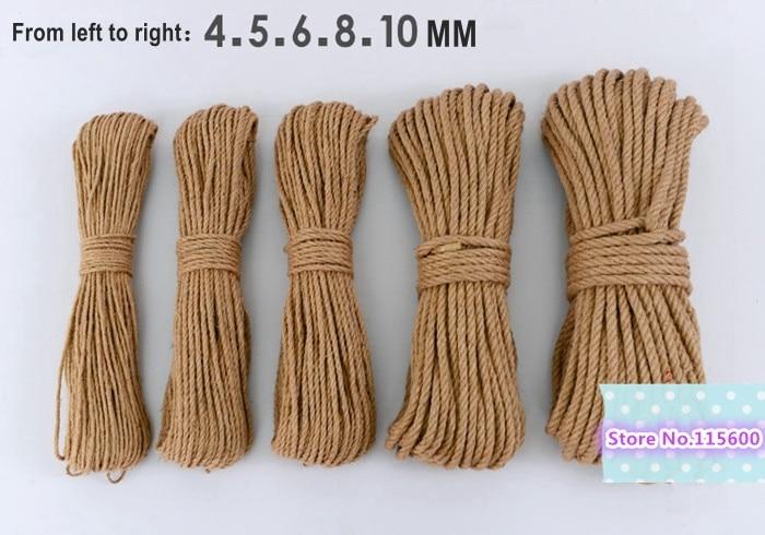 4mm Natural Color Hemp Rope Jute Cord Hemp Twine 50meters