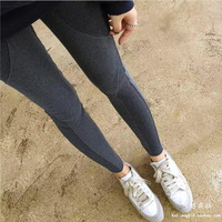Pregnant women in autumn and winter leggings high stretch thread stitching pants thick plus velvet large size