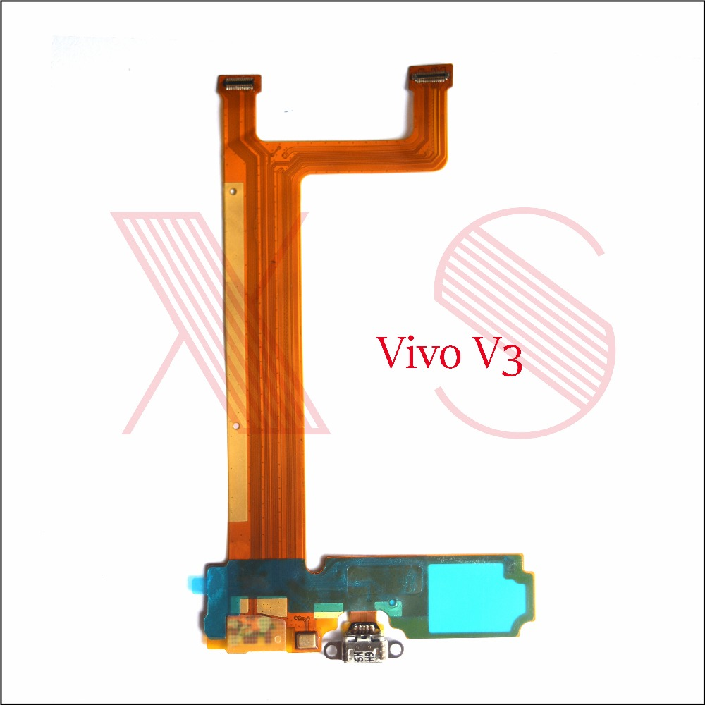 US $9 5  1pcs Replacement Parts For VIVO v3 V3L Charging Port Micro USB  Charger Dock Connector Flex Cable with microphone-in Mobile Phone Flex  Cables