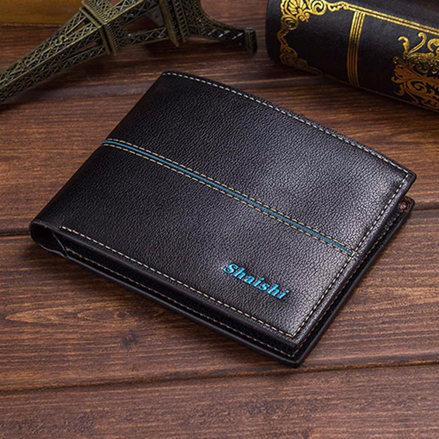 Very Fashion New Arrival Men Leather ID credit Card holder Clutch Coin Purse Wallet mens wallet portemonnee