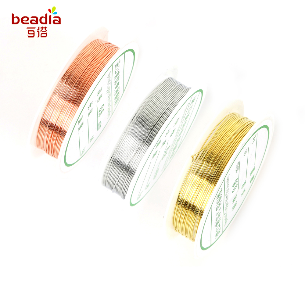 15M Copper Craft wire 0.4mm 26 Gauge Jewellery Making Pick You Colour