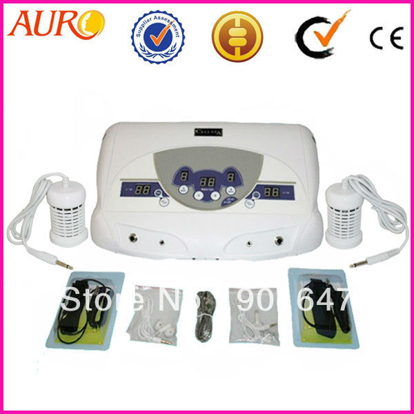 Free Shipping + 100% Guarantee!!! 04 With 2 arrays MP3 Foot Massage Foot Cleaner Detox Ionic Machine for Personal home use 2018