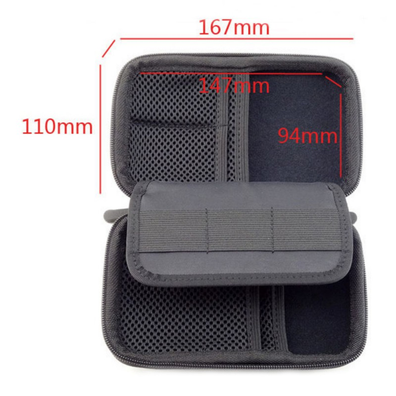 Portable Mini Electronic Product Storage Bags Anti-Shock Digital Accessories Hard Drive Organizer Storage Bag Pouch
