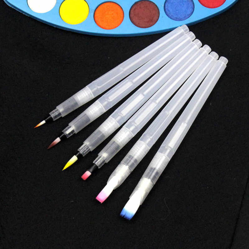 6 шт. многоразовая кисть Акварельная ручка акварельные щетки рисунок живопись, каллиграфия ручка-кисть инструмент игрушка