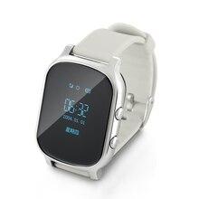 цена на T58 Smartwatch GPS Life Tracker Location Finder Bracelet SIM Remote Camera Anti-lost Monitor Wifi Bluetooth OLED Touch Screen