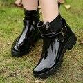 Mulheres Sapatos De Borracha Botas de Chuva Para Meninas Ladies Casual Andando Sapatos De Borracha À Prova D' Água Queda Inverno Martins Tornozelo Mulher Rainboots
