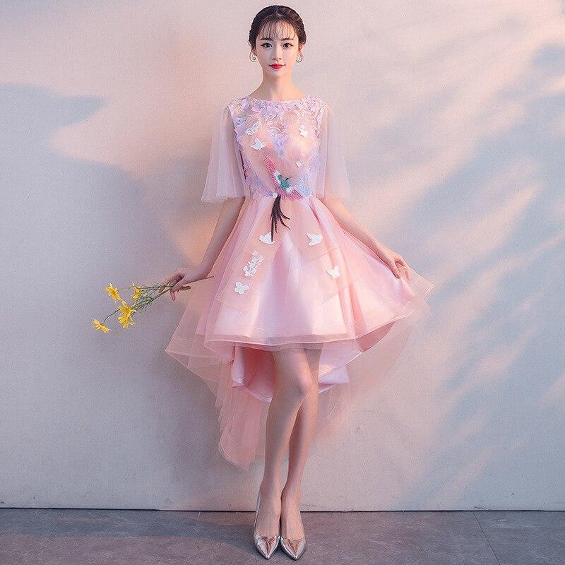 Robe de soirée 2019 nouveau banquet version coréenne courte de la robe robe femme demoiselle d'honneur robe copines étudiant rassemblement