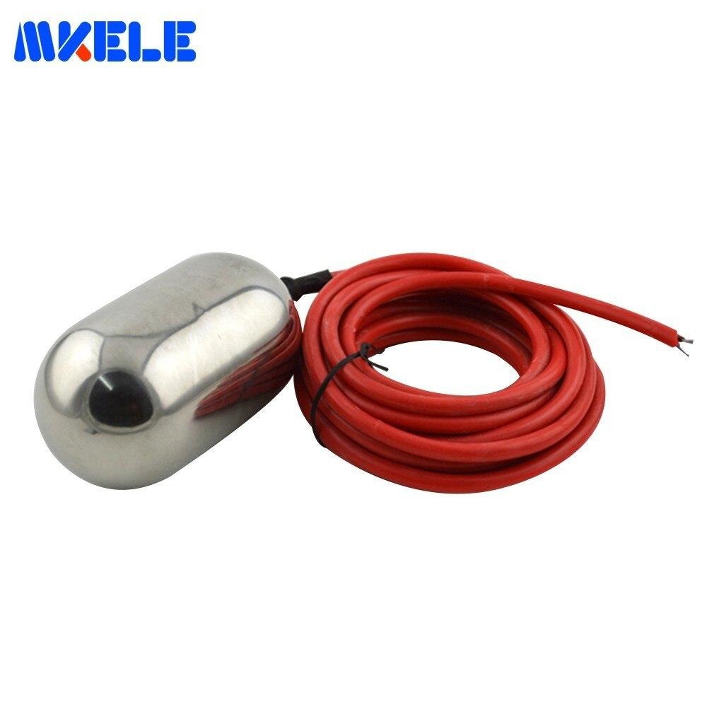 Commutateur de flotteur de câble commutateur de contrôleur de niveau de liquide MK-CFS01 d'acier inoxydable commutateur de niveau de flotteur suspendu par câble de 5 mètres