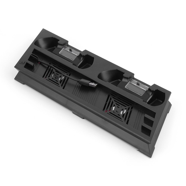Multifunções Suporte Vertical Suporte & Ventilador & Disco De Armazenamento Torre & Dual Controlador do Carregador de Suporte Para PS4