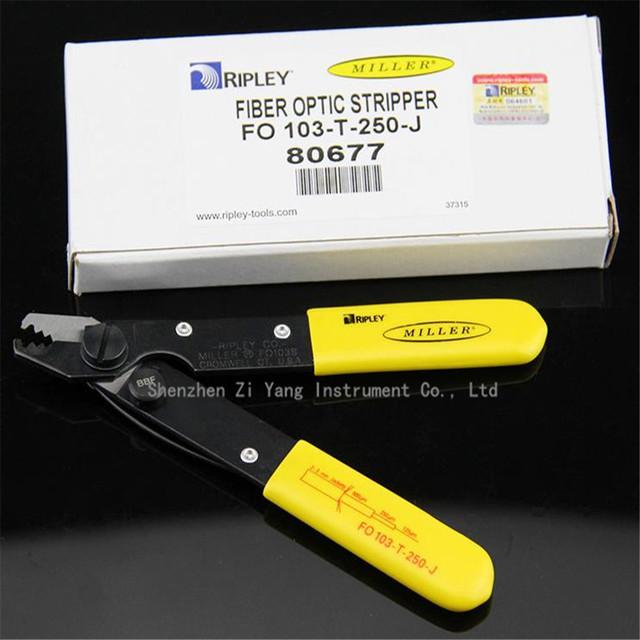 Miller braçadeira eua original três furos haste reta de fibra óptica Stripper FO103-T-250-J fibra óptica strippers
