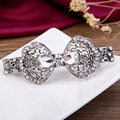 Copper Hair Clip CZ Crystal Barrette Hairpin Fashion Jewelry Trinket New Sliver Plated Woman Rhinestone Hairgrips