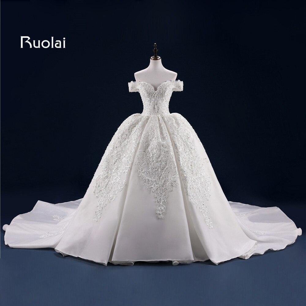 कंधे बॉल गाउन वेडिंग गाउन - शादी के कपड़े