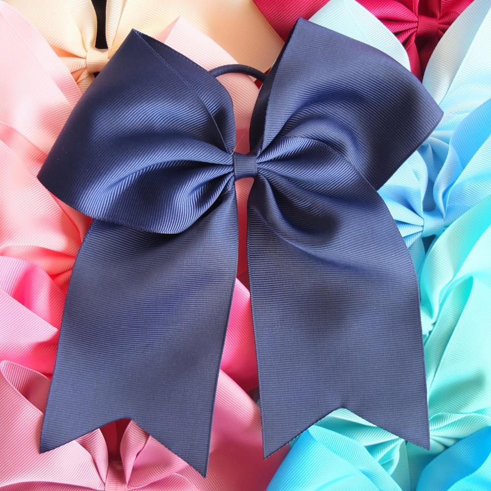 24 de culori 8 inci arcuri cu bucla Elalstic de conducere de susținere coadă de păr de arc Bobble Baby Teen Fata femei mari păr de arc