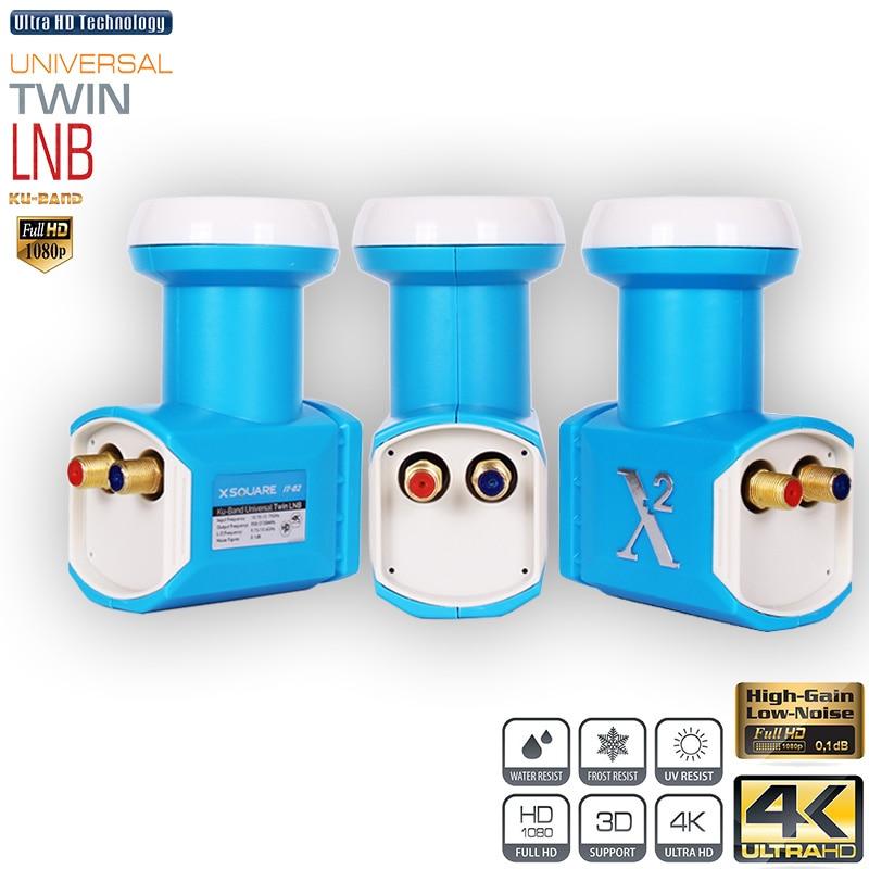 X2 Universal LNB For Satellite Reciever HD Digital Ku Band Twin LNB Dish TV LNBF