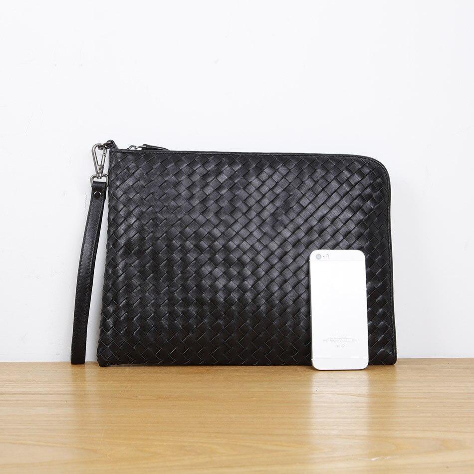 LAN sac à main pour homme en cuir enveloppe sac simple première couche en cuir de vache ipad sac tablette PC sac mi case