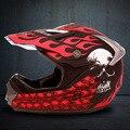 El casco de la motocicleta caliente negro casco de la motocicleta de ala doble cruz diseño de casco
