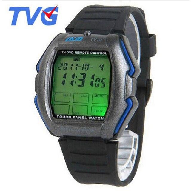 13dcb0bd89ab TVG Led Relojes Hombres Relogio masculino Panel de la Pantalla Táctil Led  Reloj Digital TV