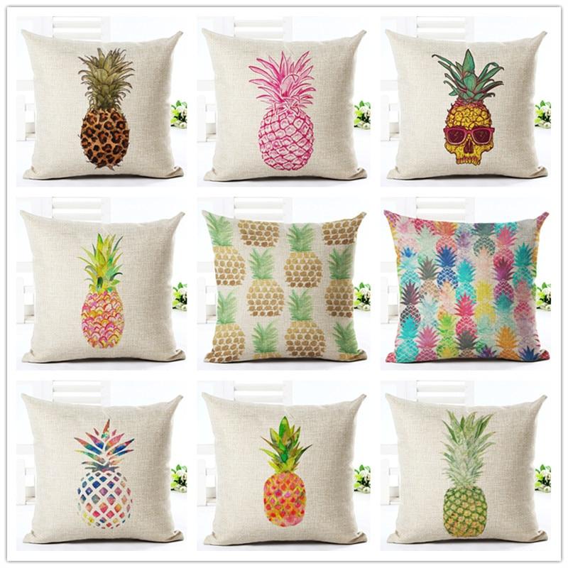 ④El nuevo estilo de la moda Ananas imprimir Cojines inicio cojines ...