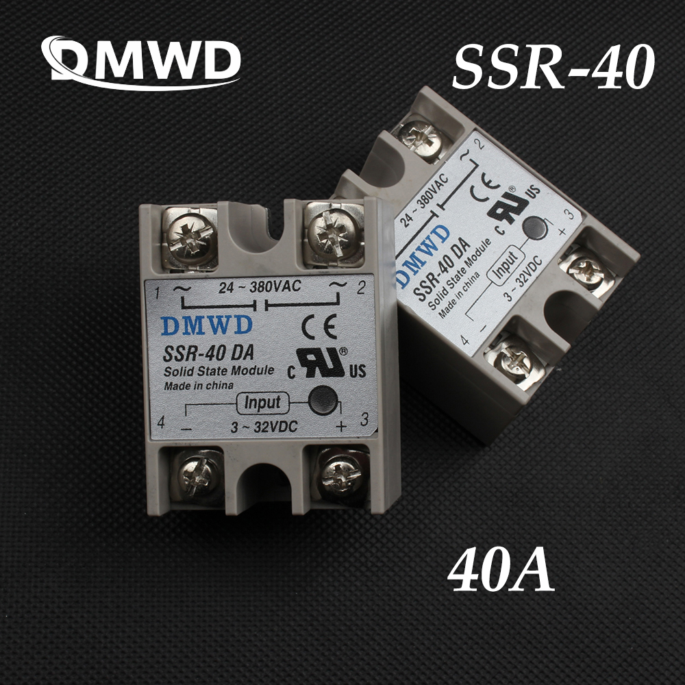 SSR-40 40A DMWD VA DA Industrial Solid State Relay Module AA SSR DD normally open single phase solid state relay ssr mgr 1 d48120 120a control dc ac 24 480v