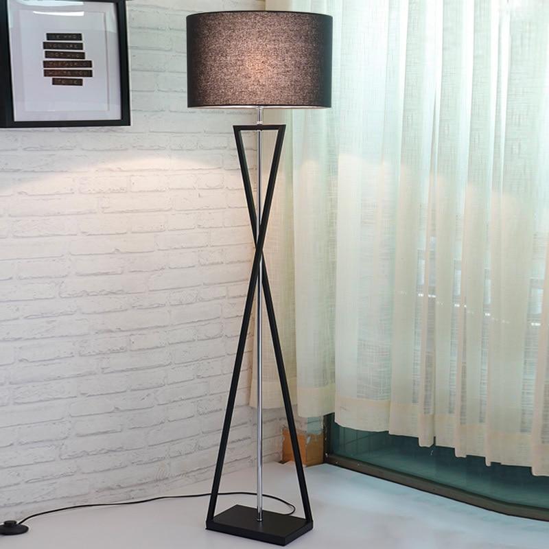 Modern Minimalist Industrial LED Floor Lamp Standing For Living Room Reading Lighting Loft Iron