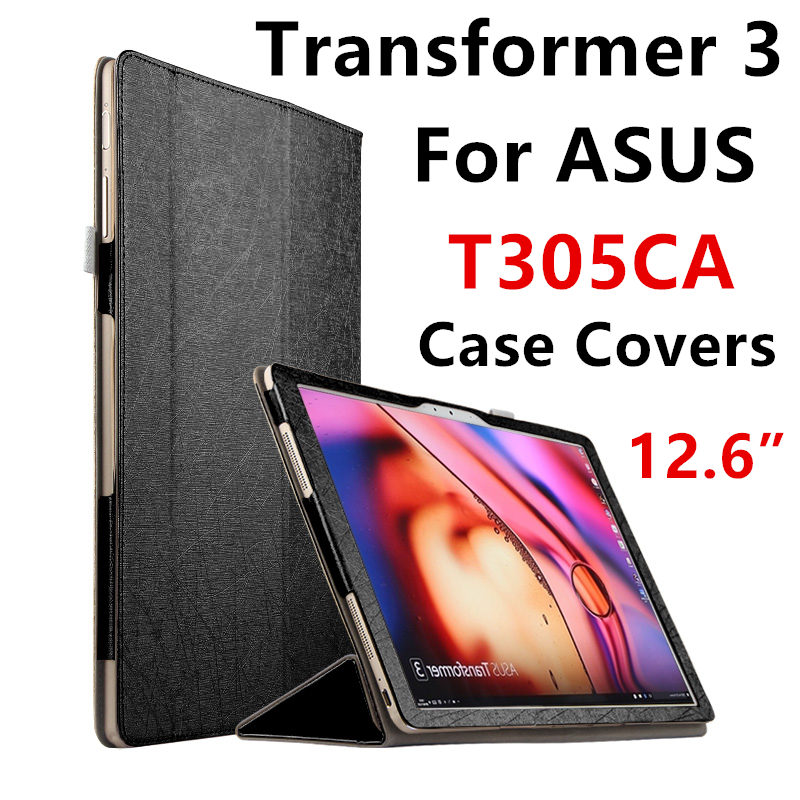 Case For ASUS Transformer 3 T305CA Protective Smart cover Protector Leather Tablet PC T305 UA PU Sleeve 12.6 inch Covers Holste планшет asus transformer infinity tf701t в алматы