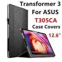 Case para asus transformer 3 t305ca protectora smart cover protector Tablet PC T305 UA PU Manga de cuero 12.6 pulgadas Cubre Holste