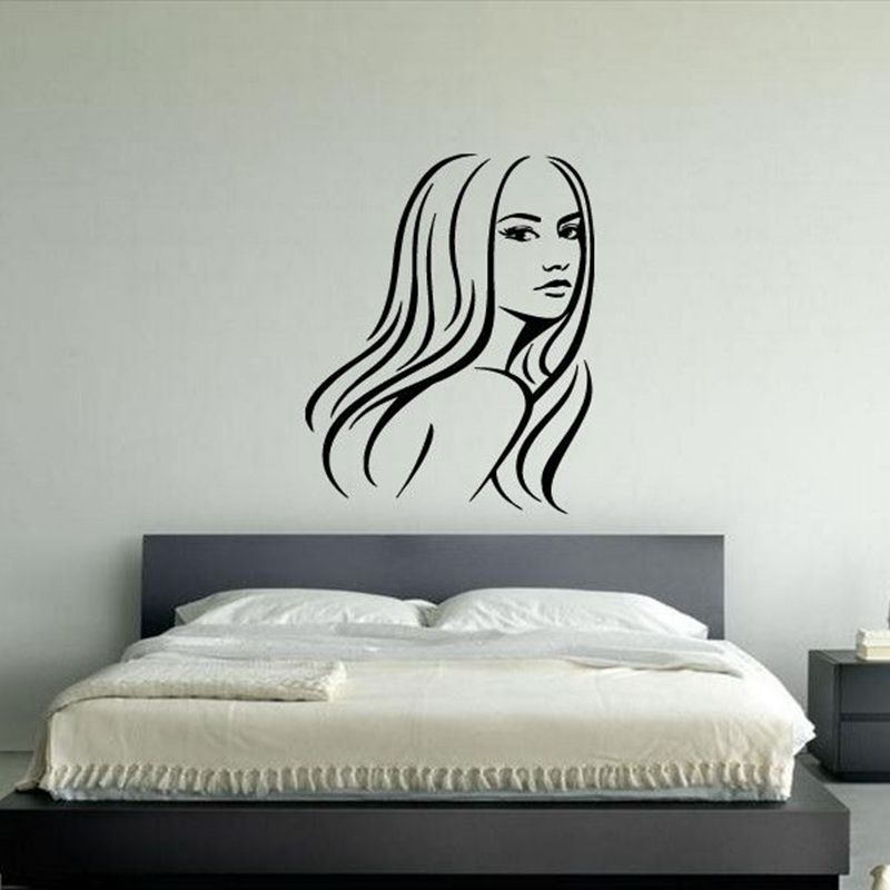 Hair Salon Sticker Beauty Scissors Decal Haircut Name Posters Vinyl Custom Best Bedroom Posters Exterior Decoration