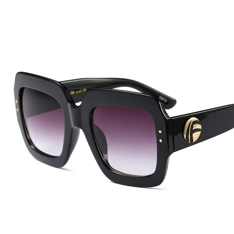 Kvinnor män trendiga stora handgjorda kristall solglasögon lyx - Kläder tillbehör - Foto 2