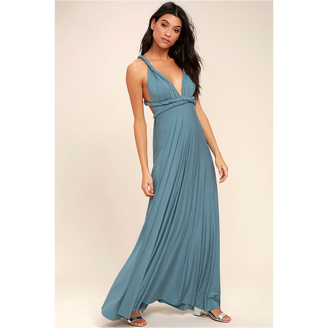 beautiful long dress criss cross waist 2