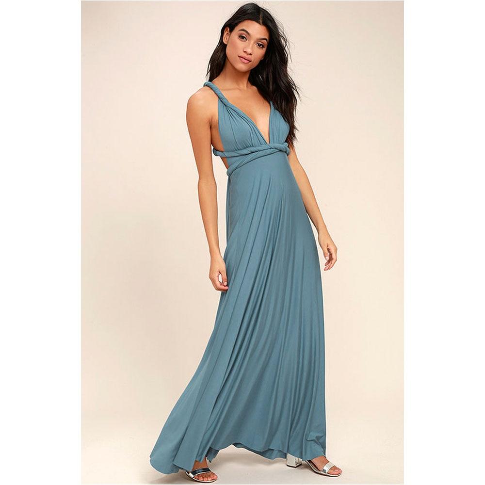 Sexy Women Multiway Wrap Convertible Boho Maxi Dress