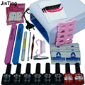 Hot JinTing in 36W UV lamp  Resurrection nail tools and portable package eight 10 ml soaked UV glue gel nail polish se 220 V