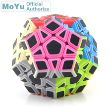 MoYu Carbon Fibre Sticker Megaminxeds Magic Cube Cubo Magico Professional Neo Speed Cube Puzzle Antistress Fidget Toys For Boys leadingstar moyu 3rd mf3rs speed magic cube puzzle sticker less 56mm professional cube cubo magico educational toys for children