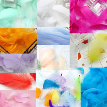 100pcs 8-12cm Makaron Balloon Decoration Filling Natural Feather Wedding Birthday Party Photo props
