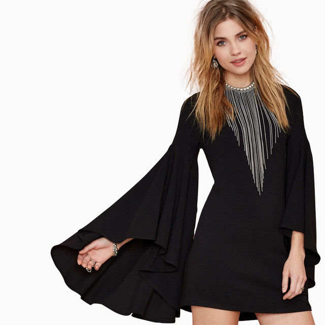 Fashion Spring and summer style elegant ultra wide ruffled pleated sleeve slim pencil one-piece dress free shipping