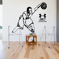 YOYOYU Wallpaper Basketball Stephen Curry Room Decor Wall Sticker Fan Gift Poster Decal NBA Master man removable decals J907