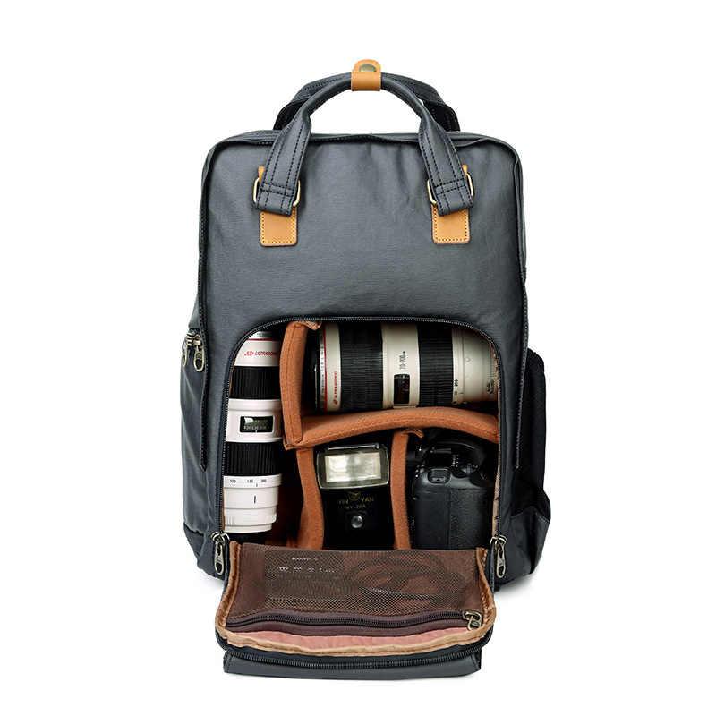 AETOO sac photo toile extérieur épaule rétro photo pack étanche lumière photographie sac à dos