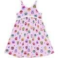 Girls Dress Halter Sleeveless Cute Owl Summer Beach Sundress 2017 Summer Princess Wedding Party Dresses Girl Clothes Size 2-6