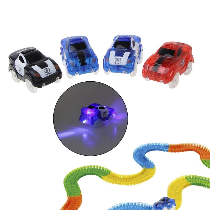 Electronics Car For Magic Track Toys 5 LED Flashing Lights Boys Educational Gift