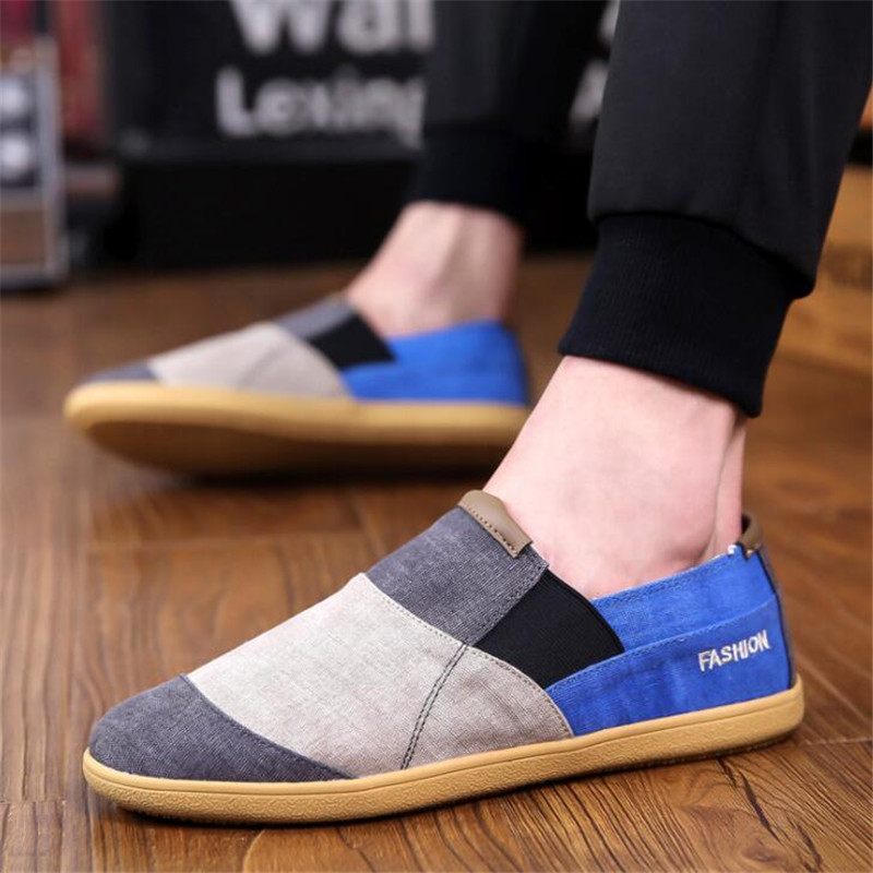 2019 new breathable men 39 s canvas shoes lazy one pedal set foot casual breathable mens sneakers shoes tenis masculino adulto in Men 39 s Casual Shoes from Shoes