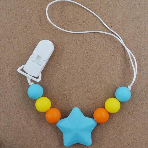 Детские соску клип сеть для детей силиконовый держатель пустышки соску прорезывания зубов с пищевой силиконовая соска для кормления грудных детей - Цвет: BLUE