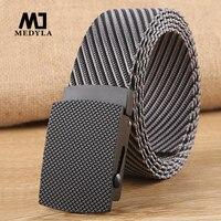 MEDYLA-Cinturón de nailon informal ajustable para hombre, cinturón táctico de viaje al aire libre, Vintage, para Vaqueros, MN028