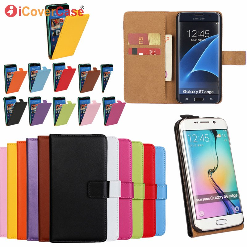 Flip Case For Samsung Galaxy S7 S6 Edge Plus S5 S4 S3 mini S2 Cover Wallet Leather Coque ...