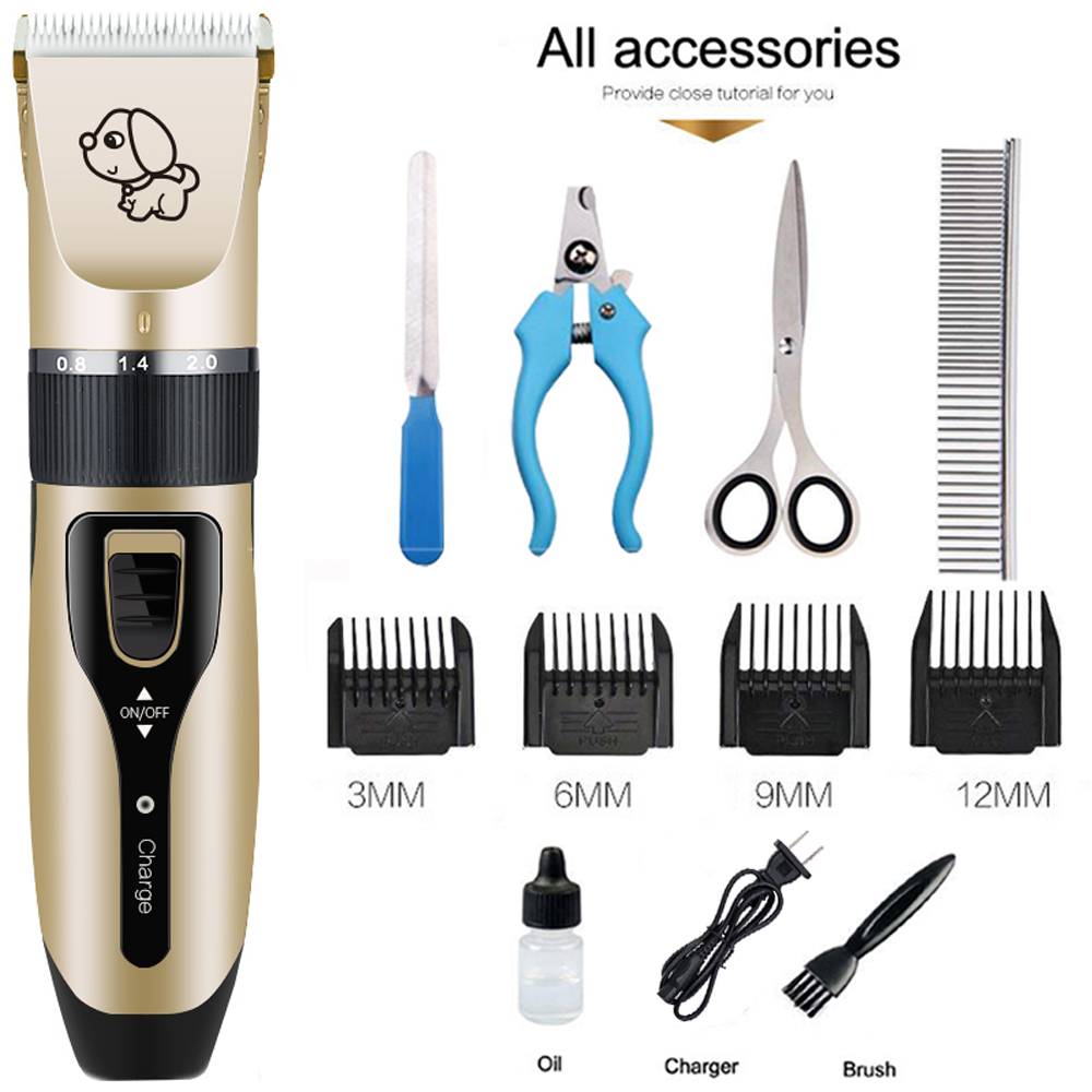 Electrical Dog Hair Trimmer Pet Trimmer Haircut Machine Rechargeable Low-noise Cat Clipper kit Pet Hair Remover Grooming Cutter Electrical Dog Hair Trimmer Pet Trimmer Haircut Machine Rechargeable Low-noise Cat Clipper kit Pet Hair Remover Grooming Cutter