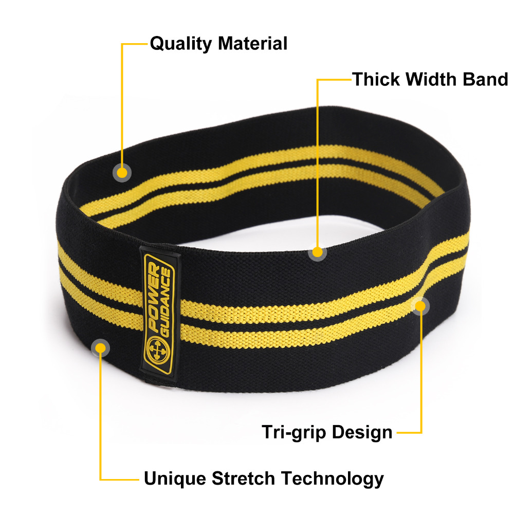 POWER GUIDANCE Cotton Hip  Resistance Bands Set Booty Exercise Elastic Bands For Fitness Workout Hips & Glutes 2