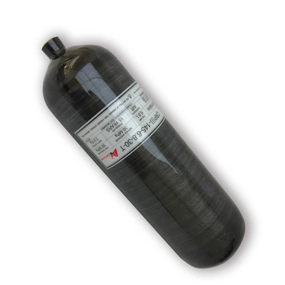 Tanque de Paintball Pcp Acecare 6,8 litros/9L GB tanque negro 4500psi 300bar 30Mpa cilindro de fibra de carbono Pcp Rifle de aire comprar China Direct