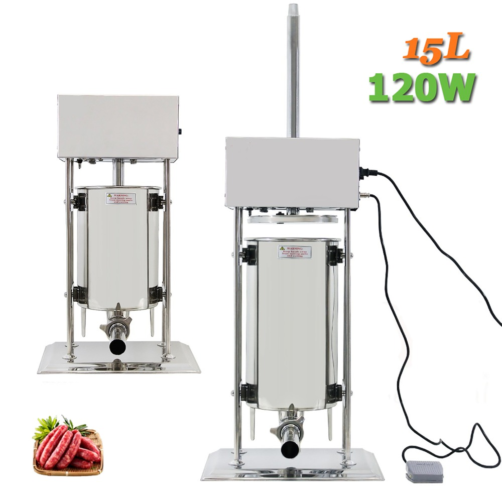 15L Commercial Electric Sausage Stuffer Stainless Steel Vertical Sausage Maker Suasage Filler Machine