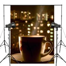 After Dinner Coffee Photography Background Enjoy Life Backdrop Studio Props Wall 150x210cm