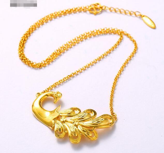 Belle chaîne clavicule Vintage pendentif paon tempérament bijoux collier