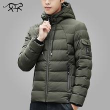 브랜드 겨울 자켓 남성 의류 2018 따뜻한 패딩 후드 오버 코트 패션 캐주얼 다운 파카 남성 자켓 및 코트 남성 후드 4XL